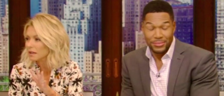 Michael Strahan when Kelly Ripa asked about divorce