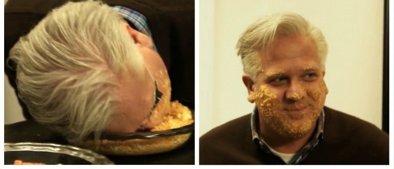 Glenn Beck Is Officially Bat Sh*t Crazy -- WATCH Him Rub Cheetos All Over His Face (YouTube)