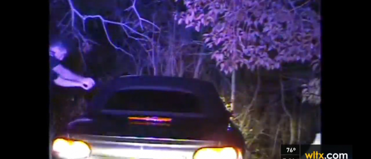 Officer Justin Craven fatally shooting Ernest Satterwhite, South Carolina State Police, Screenshot, WLTX