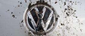 SEPTEMBER 29, 2015: Logo bedraggled a Volkswagen Tiguan TD (villorejo / Shutterstock.com)