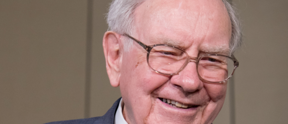 Warren Buffett, chairman and CEO of Berkshire Hathaway is interviewed after the annual Berkshire Hathaway shareholders meeting held at the CenturyLink Center in Omaha, Neb. on Saturday, May 2, 2015. (Kent Sievers / Shutterstock.com)