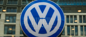 The emblem dealership Volkswagen, September 4, 2012 in Berlin, Germany. Volkswagen is a German multinational automotive manufacturing company. (Sergey Kohl / Shutterstock.com)