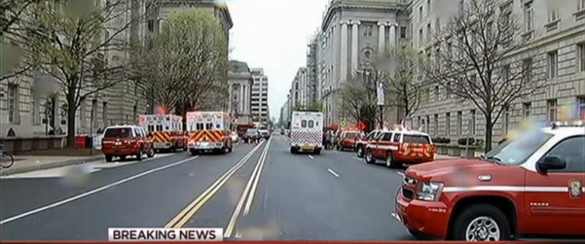 NBC Washington Covers IRS Fire - Screenshot