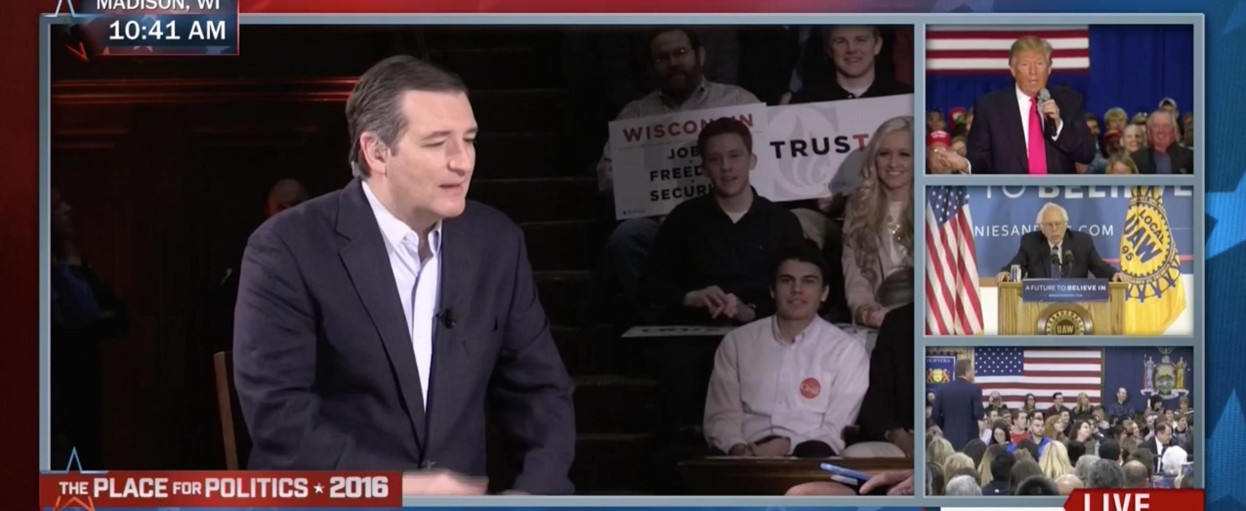 Ted Cruz, Screen Shot MSNBC, 4-4-2016