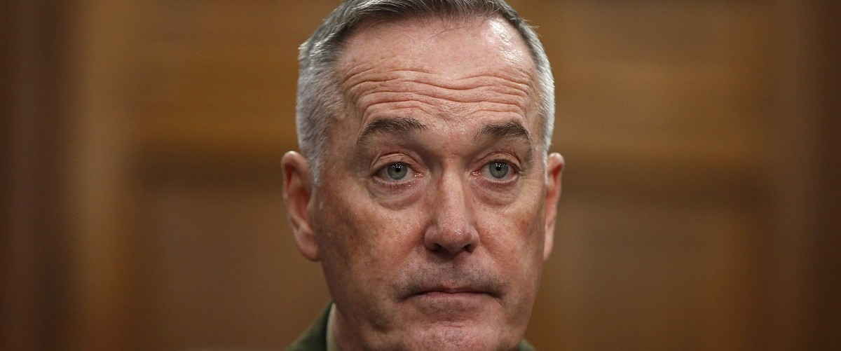 Chairman of the Joint Chiefs of Staff Gen. Joseph Dunford Jr. testifies at a House Appropriations Defense Subcommittee hearing in Washington