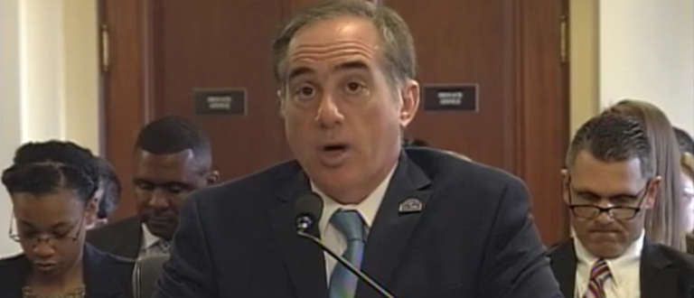 David Shulkin, VA Undersecretary, being confronted about falsely claiming a bad VA employee had been fired. (Screenshot/House video feed)