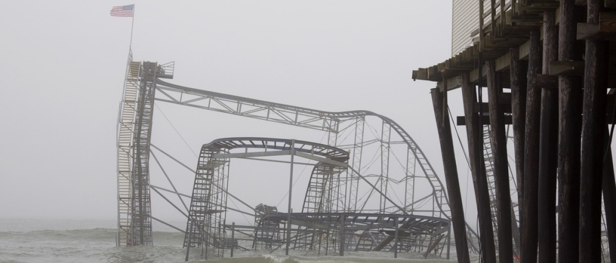 Seaside Heights, New Jersey during Hurricane Sandy. (Glynnis Jones/Shuttershock)