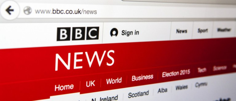 BBC News homepage (Credit: chrisdorney/Shutterstock)