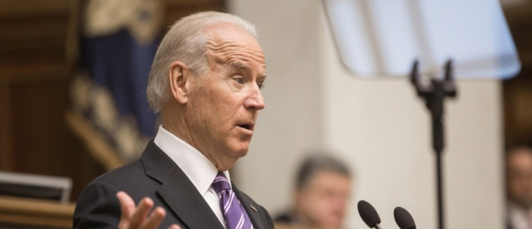 Biden speaks before an audience Kiev, Ukraine. Source: Drop of Light/Shutterstock