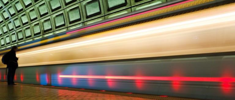 Metro train in Washington, DC. (Credit: Orhan Cam/Shuttershock)
