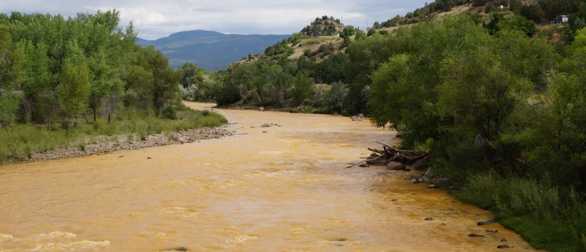 Animas river after Gold King Mine spill (Credit: Barbara K Powers/Shutterstock)
