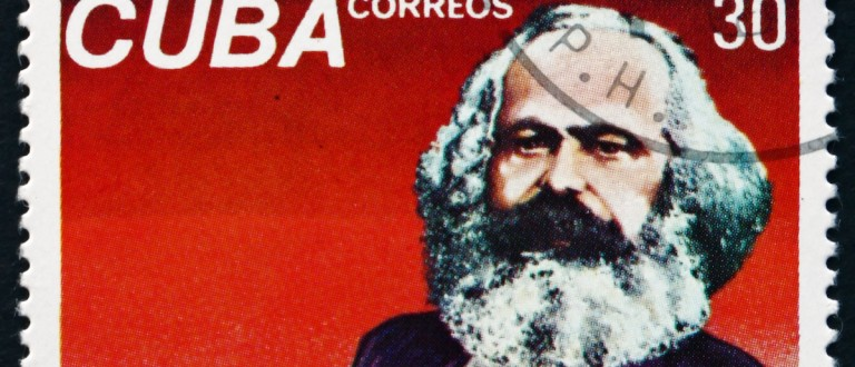 1983: a stamp printed in Cuba shows Karl Marx, Philosopher, Economist and Revolutionary Socialist, circa 1983