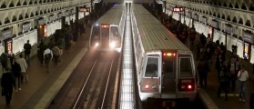 Metro trains arrive in the Gallery Place-Chinatown station ahead of a 29-hour shutdown for an emergency safety investigation of power cabling of the entire Washington Metro system in Washington March 15, 2016. REUTERS/Joshua Roberts/File Photo