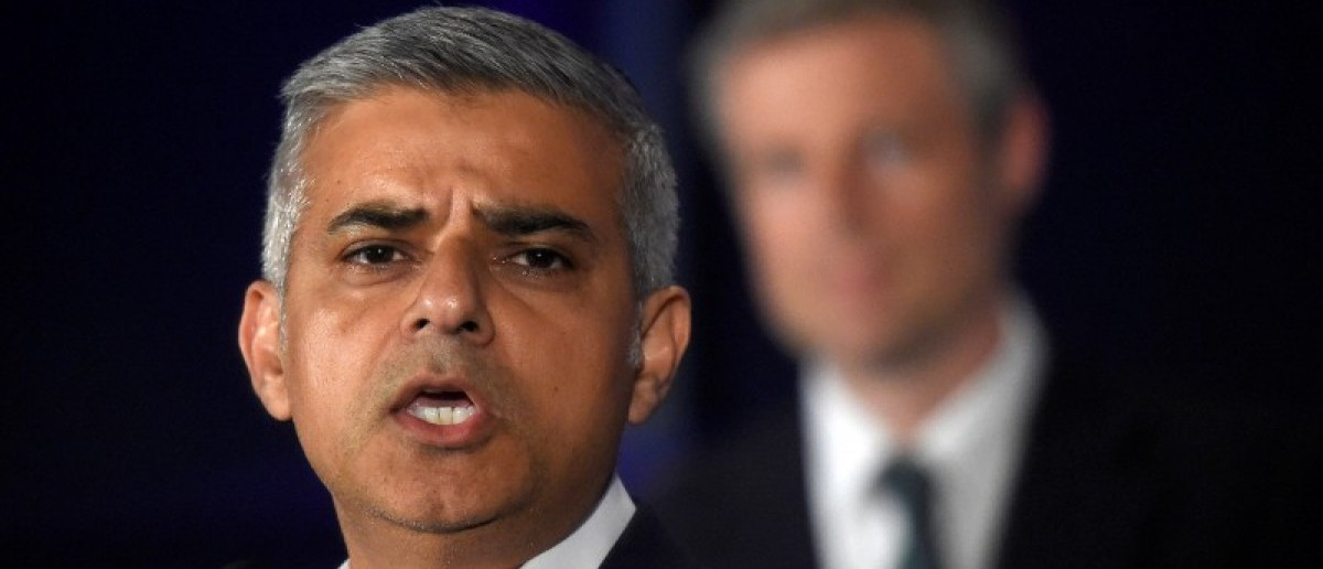 Labour Party candidate for Mayor of London Khan speaks following his victory in London