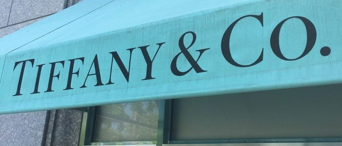 The Tiffany & Co. logo is seen on an awning of their store in Manhasset, New York,