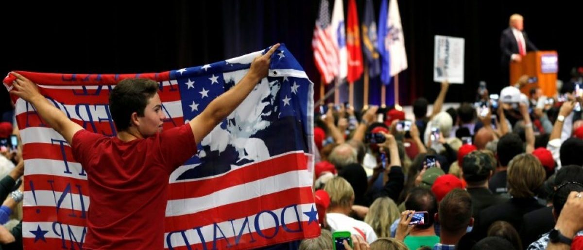 Supporters attend a rally with Republican U.S. presidential candidate Donald Trump in San Diego