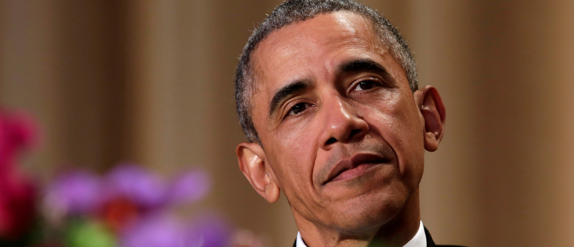 President Barack Obama attends the White House Correspondents' Association annual dinner (Reuters Pictures)