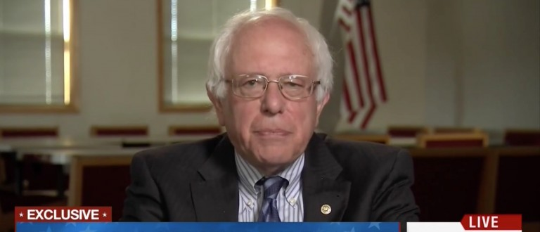 Bernie Sanders, Screen Shot MSNBC, 5-11-2016