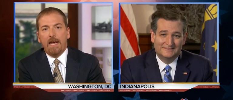 Chuck Todd, Sen. Ted Cruz, Screen Shot NBC, 5-1-2016
