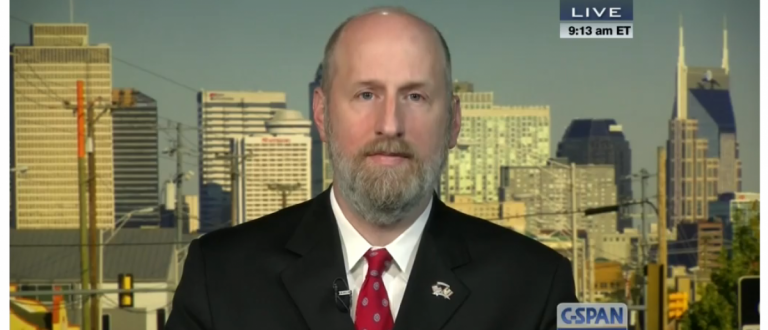 Conservative writer David French (screen grab from CSPAN).