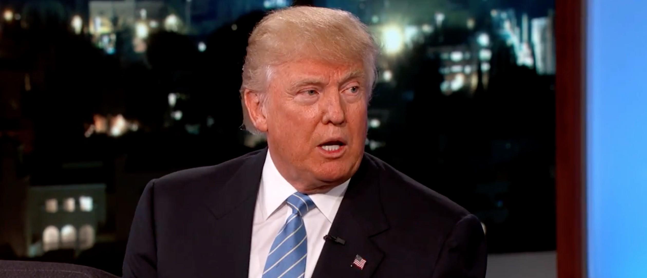 Donald Trump, Screen Grab ABC, Jimmy Kimmel Live