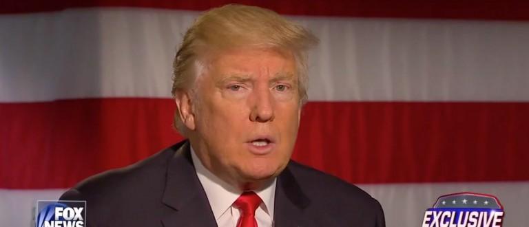 Donald Trump, Screen Shot Fox News, 5-18-2016