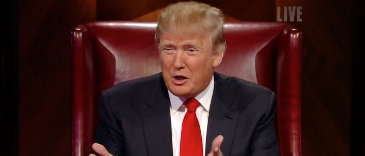 Donald Trump, Screen Shot 'The Apprentice' YouTube