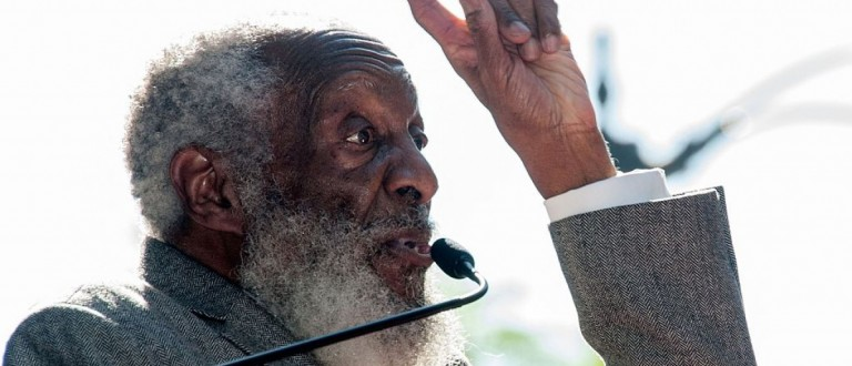 Comedian Dick Gregory attends ceremonies where he is honored with a Star on The Hollywood Walk of Fame held at the corner of Vine Street and Hollywood Boulevard , in Hollywood, California, February 2, 2015. AFP PHOTO / Valerie Macon (Photo credit should read VALERIE MACON/AFP/Getty Images)