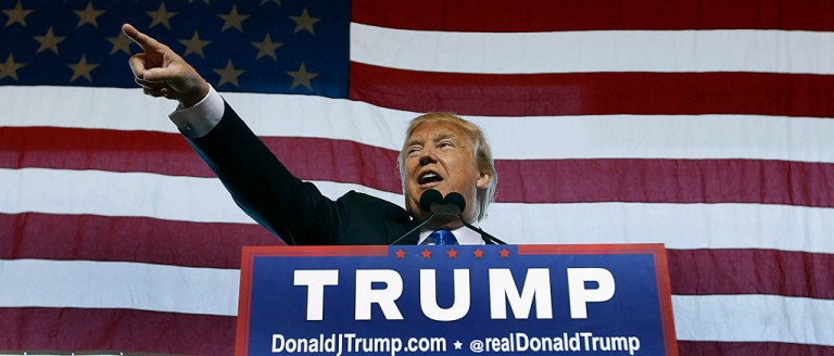 Trump leads Clinton by 5 percent (Getty Images)