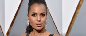 Actress Kerry Washington attends the 88th Annual Academy Awards at Hollywood & Highland Center on February 28, 2016 in Hollywood, California. (Photo by Kevork Djansezian/Getty Images)
