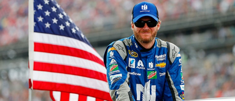Dale Jr. Went Full MacGyver To Survive His Steering Wheel Popping Off At Talladega (Getty Images)