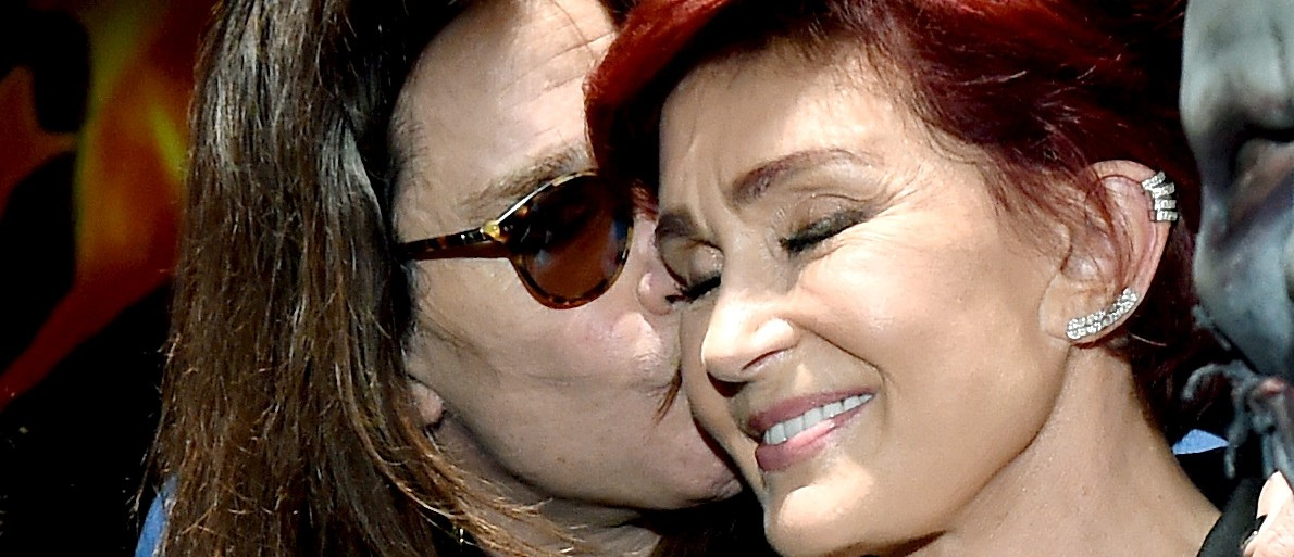 Singer Ozzy Osbourne (L) and wife/manager Sharon Osbourne attend the Ozzy Osbourne and Corey Taylor special announcement at the Hollywood Palladium on May 12, 2016 in Hollywood, California. Ozzfest and Knotfest are joining together for a weekend of music on September 24 and 25th in San Bernardino, California. (Photo by Kevin Winter/Getty Images)
