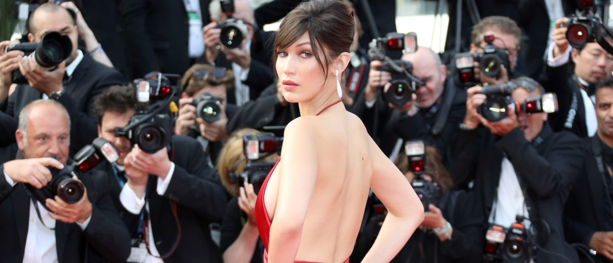 Bella Hadid at the Cannes Film Festival (Photo: VALERY HACHE/AFP/Getty Images)