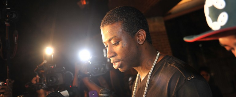 ATLANTA - MAY 11: Recording artist Gucci Mane holds a press conference to announce his plans for the future and address issues that arose while he was incarcerated on May 11, 2010 in Atlanta, Georgia. (Photo by Moses Robinson/Getty Images)
