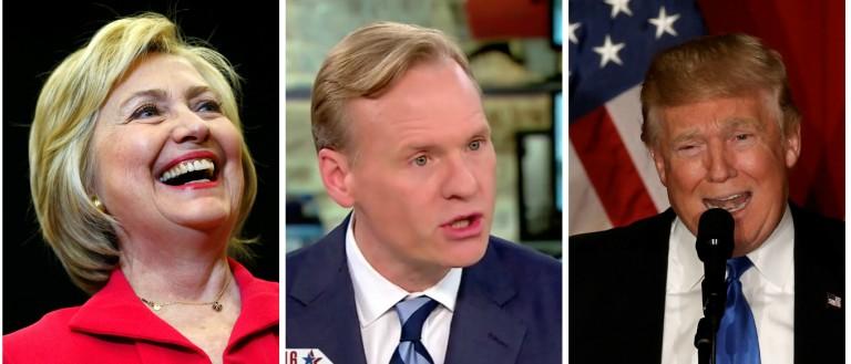 Hillary Clinton, John Dickerson, Donald Trump Images via Reuters RTSEKYO, RTSF2TE and Screen Shot CBS