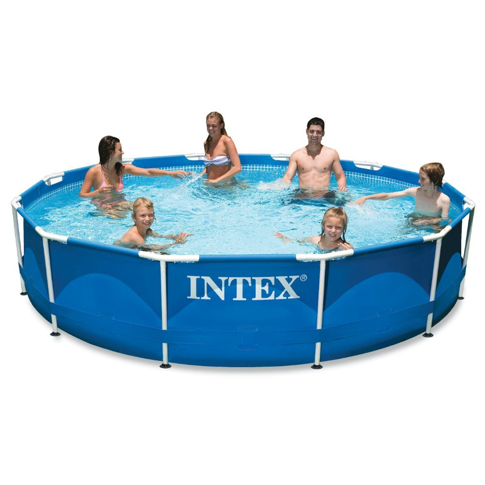 This metal frame swimming pool is really cheap right now (Photo via Amazon)