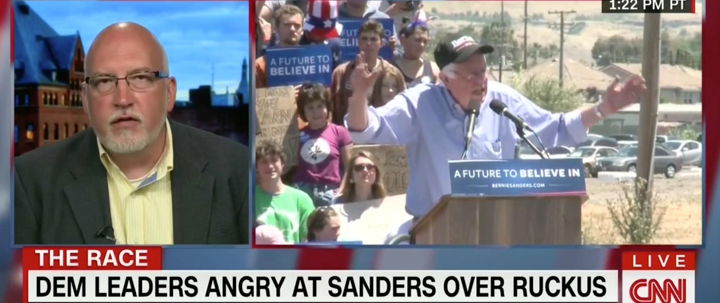Jeff Weaver, Bernie Sanders, Screen Shot CNN, 5-18-2016