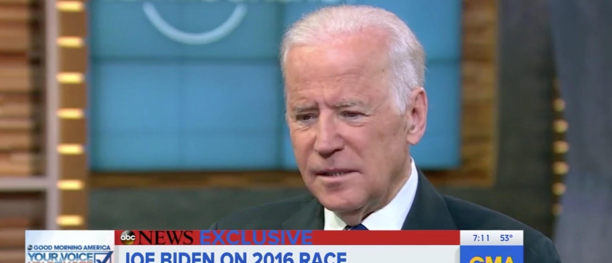 Joe Biden, Screen Shot ABC's 'GMA', 5-11-2016