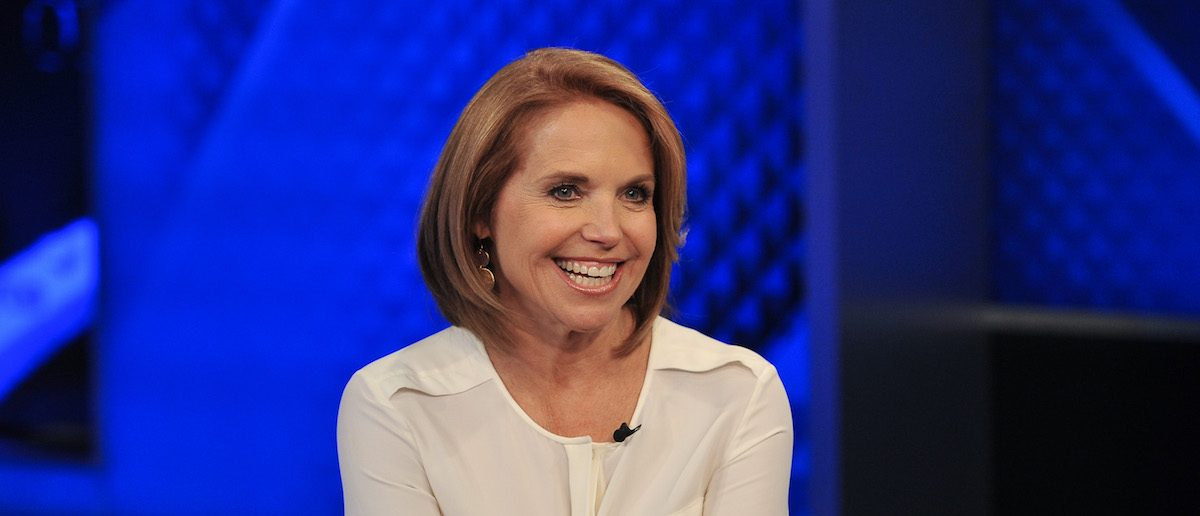 "NEW YORK, NY - MAY 13: Katie Couric visits ""The O'Reilly Factor"" at FOX Studios on May 13, 2014 in New York City. (Photo by D Dipasupil/Getty Images)"