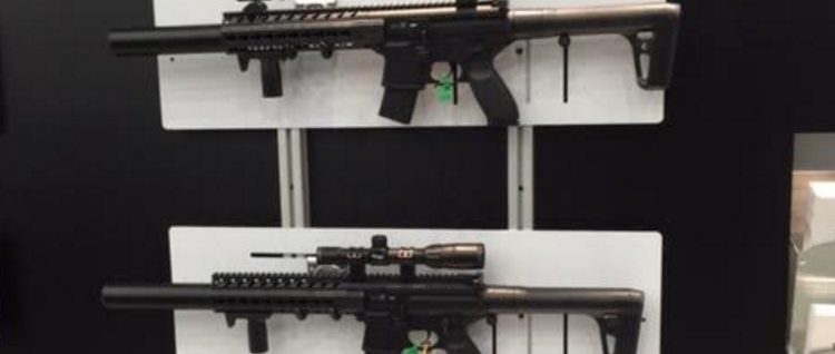 Semi-automatic rifles at the 2016 NRA Convention. (Photo: Kerry Picket/The Daily Caller)