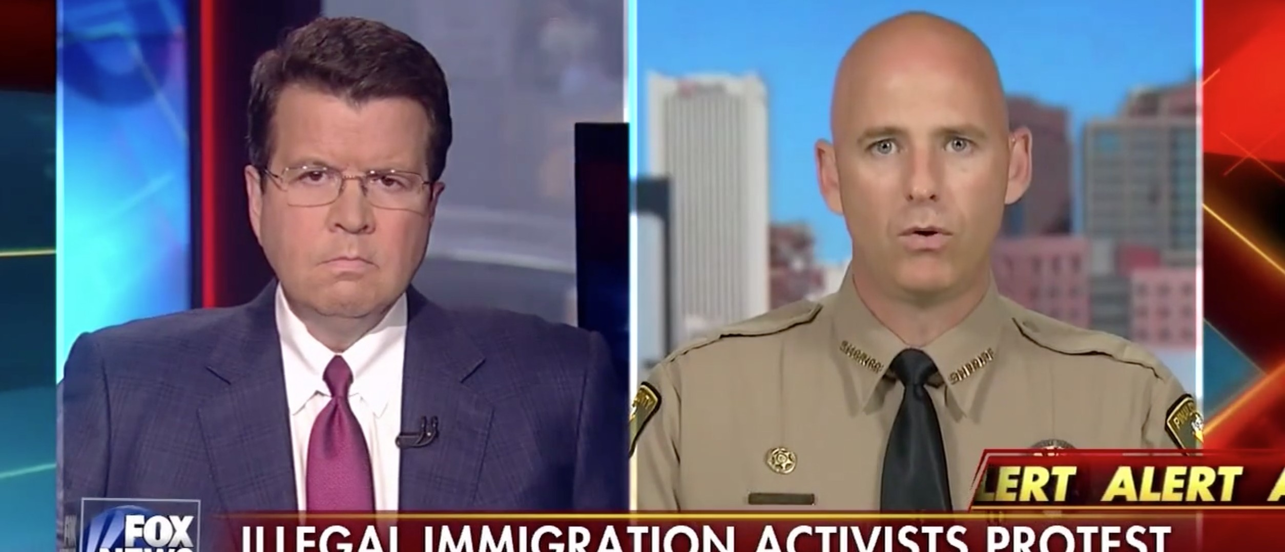 Neil Cavuto, Paul Babeu, Screen Shot Fox News, 5-12-2016