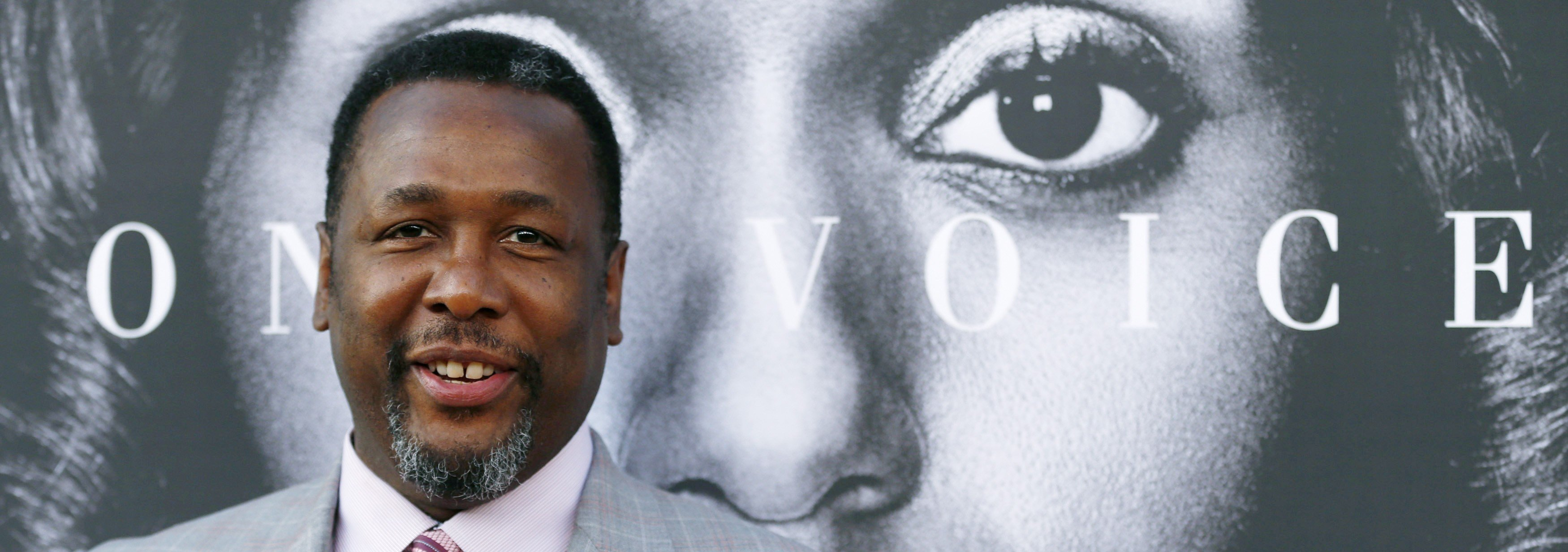 """Cast member Wendell Pierce poses at the premiere for the television movie """"Confirmation"""" in Los Angeles, California March 31, 2016. photo:REUTERS/Mario Anzuoni)/File Photo - RTSEK9M"""