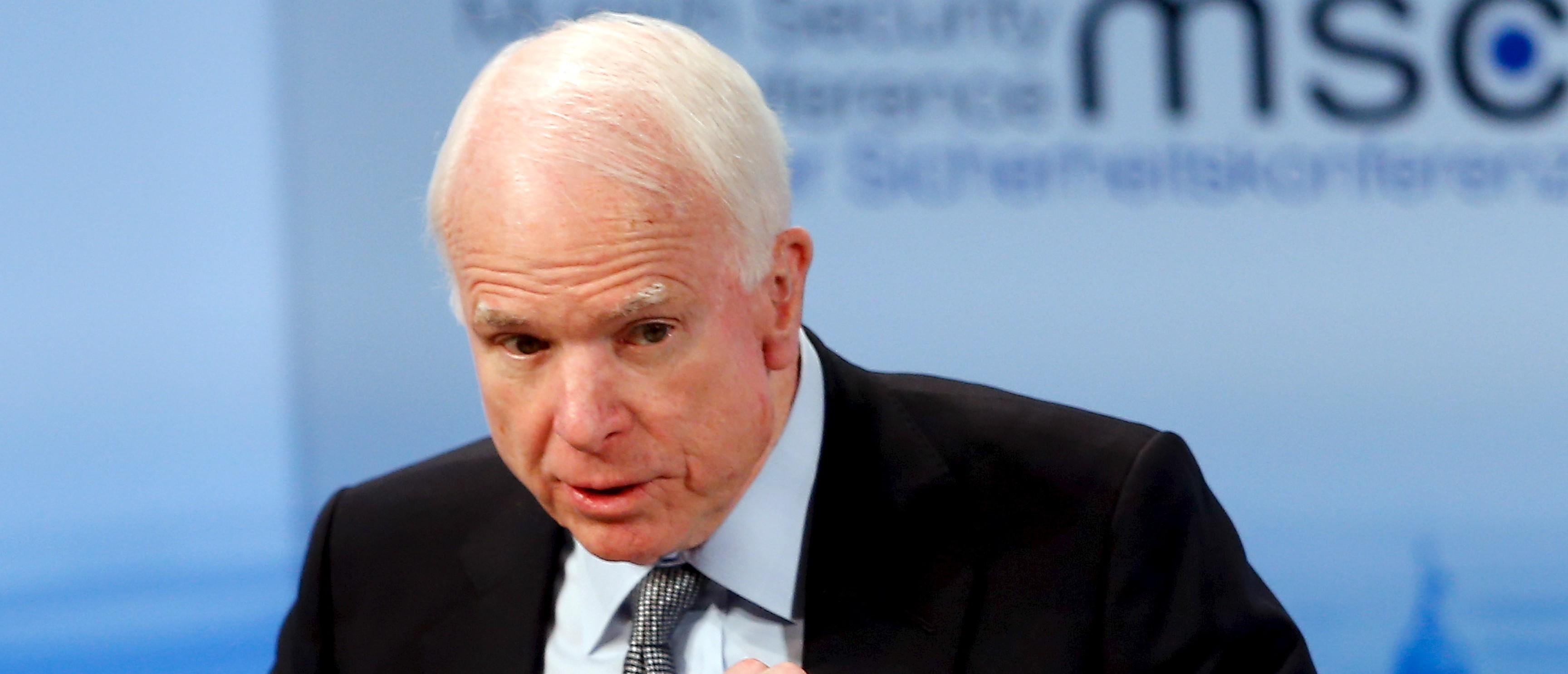 U.S. Senator John McCain speaks at the Munich Security Conference in Munich, Germany, February 14, 2016. REUTERS/Michael Dalder - RTX26UL2