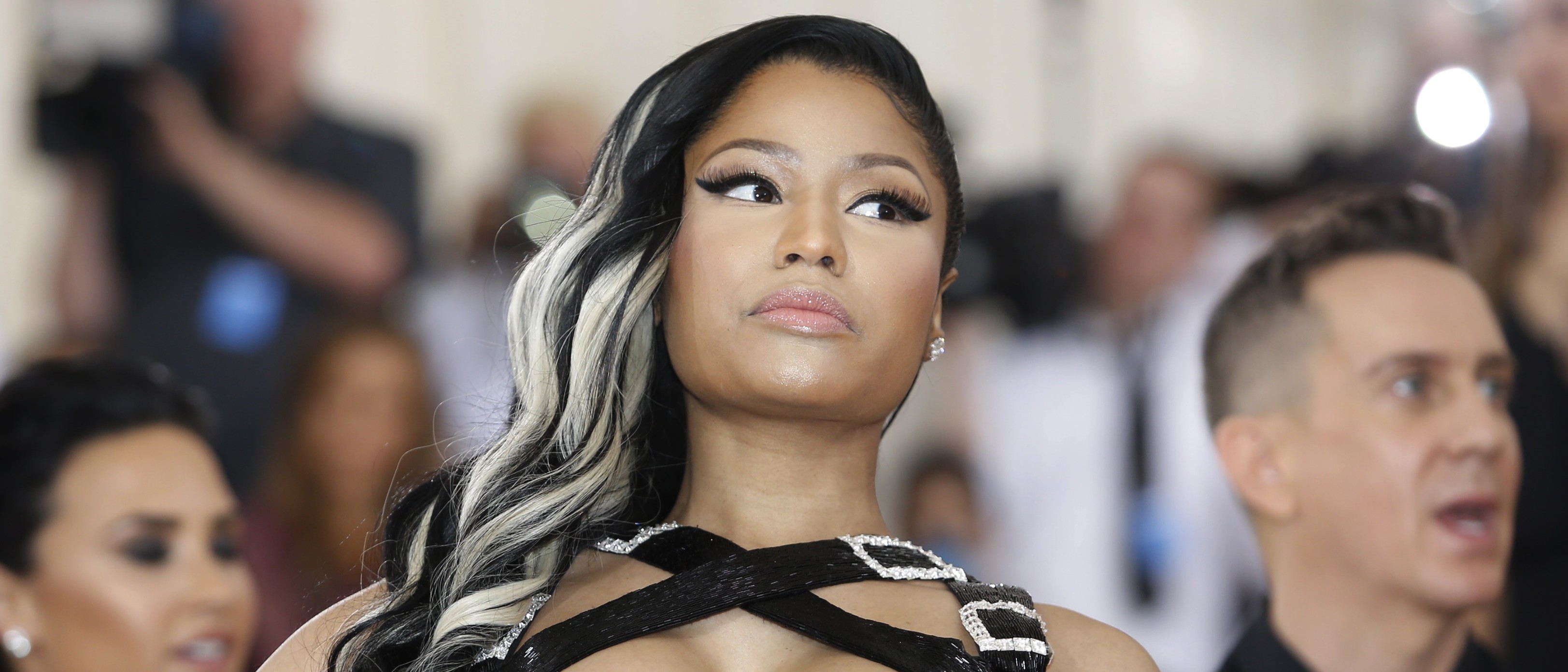 Rapper Nicki Minaj arrives at the Metropolitan Museum of Art Costume Institute Gala (Met Gala) to celebrate the opening of