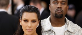 """Kanye West and wife Kim Kardashian arrive at the Metropolitan Museum of Art Costume Institute Gala to celebrate the opening of """"Manus x Machina: Fashion in an Age of Technology"""" in the Manhattan borough of New York, May 2, 2016"""