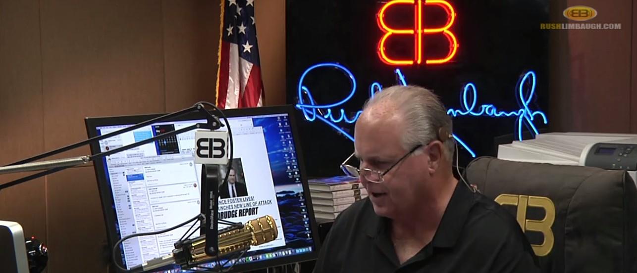 Rush Limbaugh, Screen Grab The Rush Limbaugh Show 5-24-2016