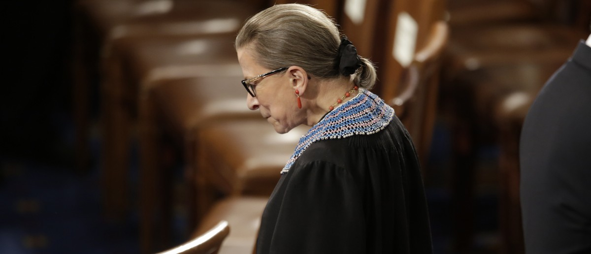 Supreme Court Associate Justice Ruth Bader Ginsburg arrives to watch President Barack Obama's State of the Union address to a joint session of Congress on Capitol Hill in Washington, Jan. 20, 2015