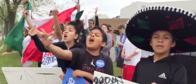 'F**cking A**hole!' Vulgar Children Curse At Trump Supporters