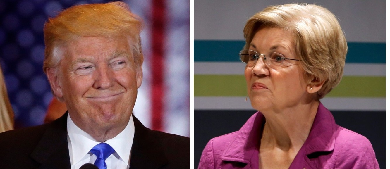Donald Trump & Elizabeth Warren (Reuters Pictures)
