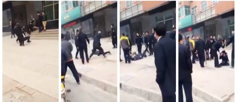 Chinese police allegedly beat suspects resisting arrest (YouTube)